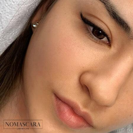 eyeliner technikával készült műszempilla technika nomascara